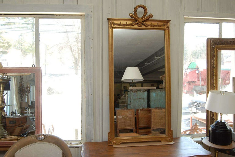 Neoclassical Pier Mirror In Good Condition For Sale In Great Barrington, MA