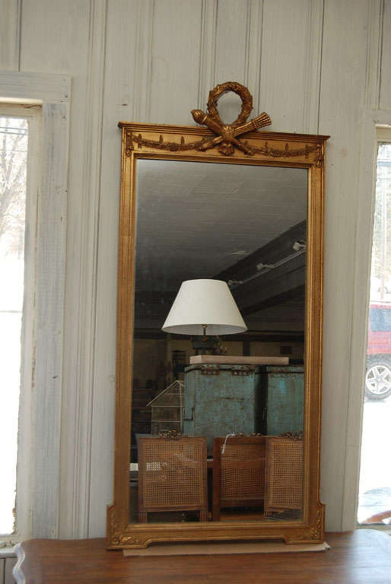 20th Century Neoclassical Pier Mirror For Sale