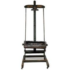 Antique Adjustable Artist Studio Easel or Television Media Stand