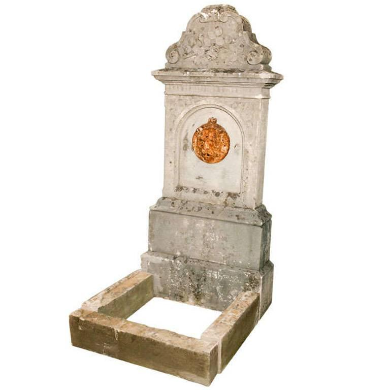 19th Century French Wall Fountain