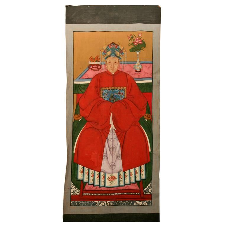 Chinese Ancestor Portrait Painting