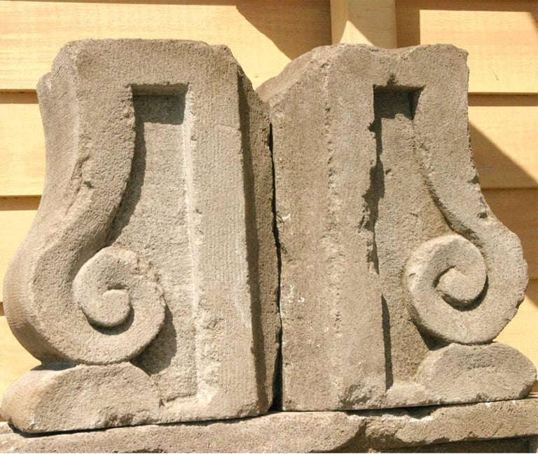 Cast Concrete French Style Wall Fountain In Good Condition For Sale In Great Barrington, MA