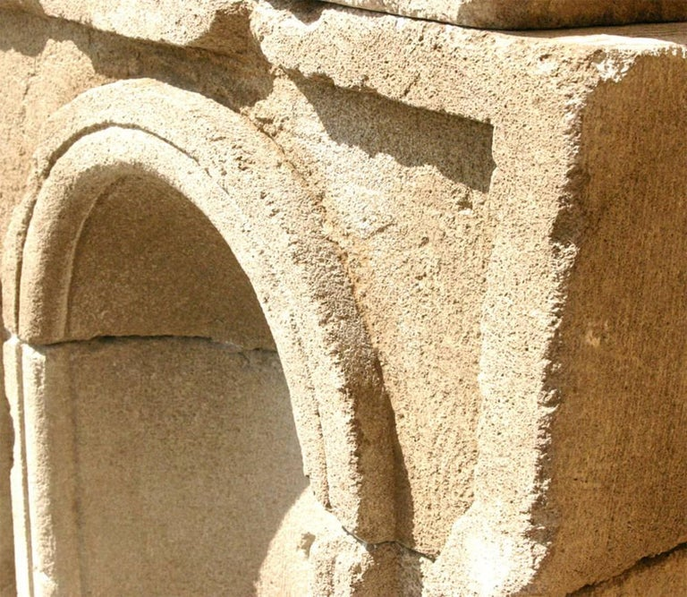 Cast Concrete French Style Wall Fountain For Sale 4