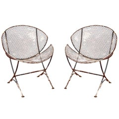 "Maurizio Tempestini for Salterini ""Clamshell"" Chairs, Pair"