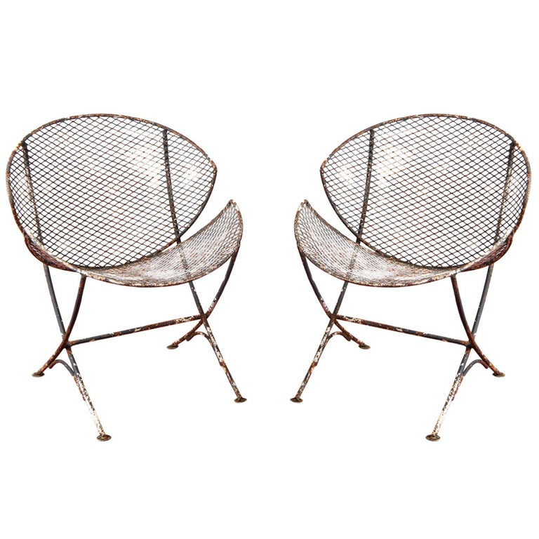 "Maurizio Tempestini for Salterini ""Clamshell"" Chairs, Pair For Sale"