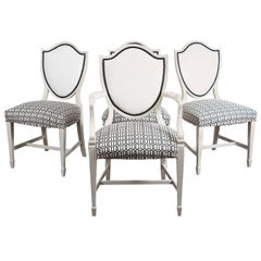 4 Adam Shield-Back Style Chairs