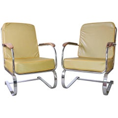 Pair of KEM Weber Machine Age Springer Armchairs