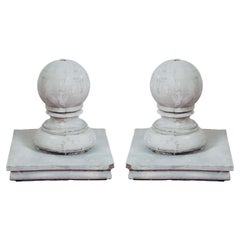 Pair of Impressive Large Gatepost Pier Finials