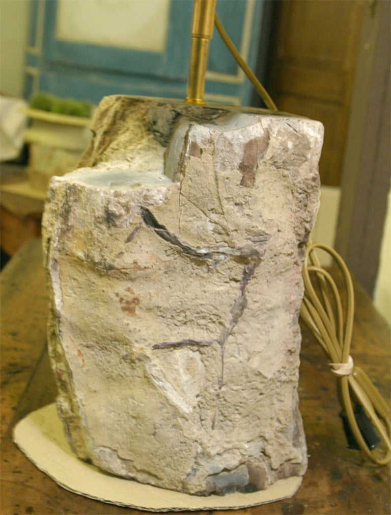 Contemporary Petrified Wood Lamp For Sale