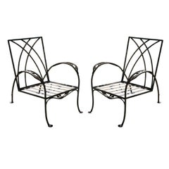 Pair of Salterini Patio Garden Lounge Chairs