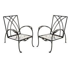 Pair of Salterini Patio Garden Lounge Chairs