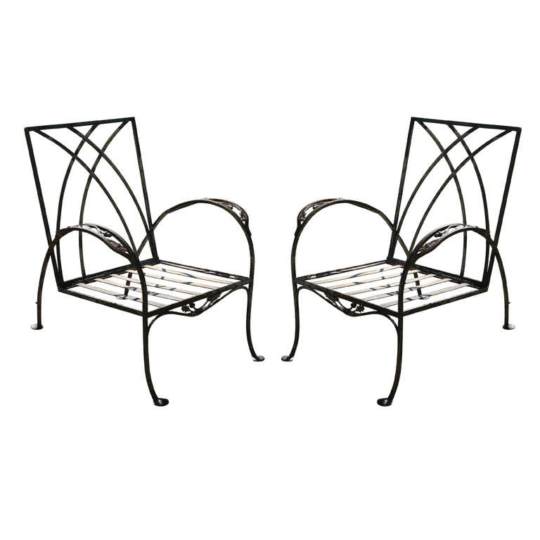 Pair of Salterini Patio Garden Lounge Chairs For Sale