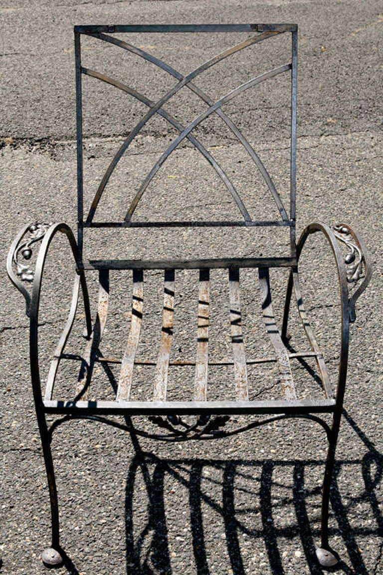 Pair of Salterini Patio Garden Lounge Chairs In Good Condition For Sale In Great Barrington, MA