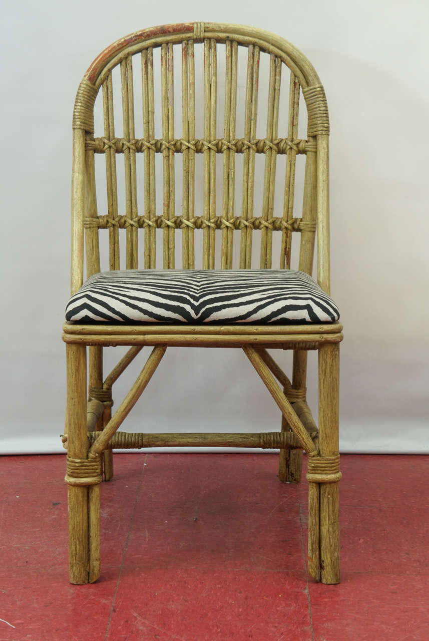 Mid Century Modern Bentwood Bamboo Chairs For Sale