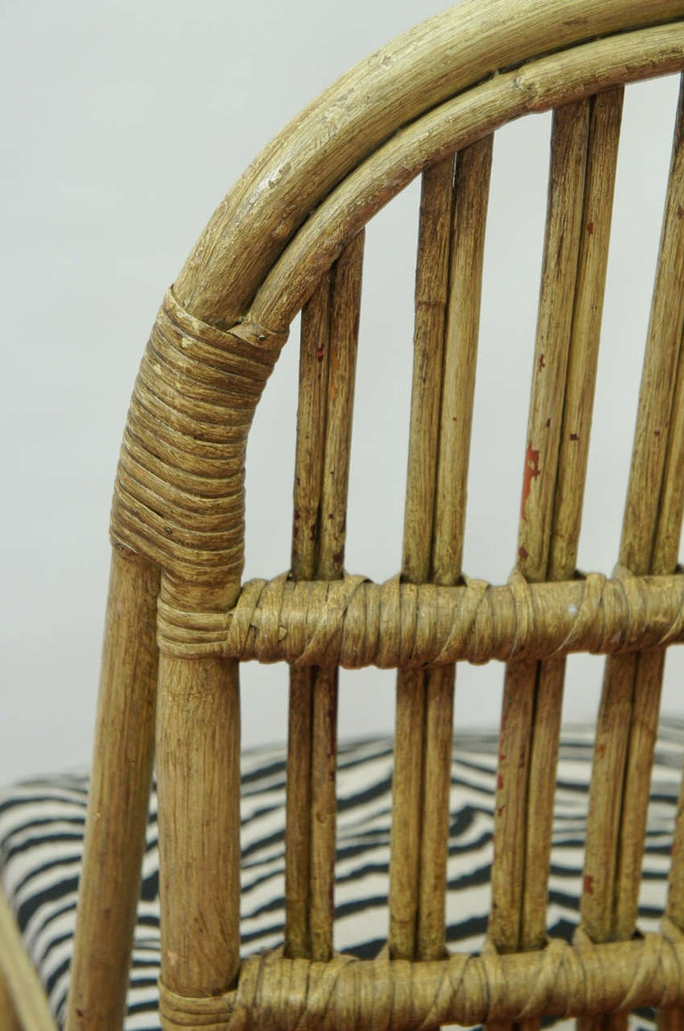 Cotton Bentwood Bamboo Chairs For Sale