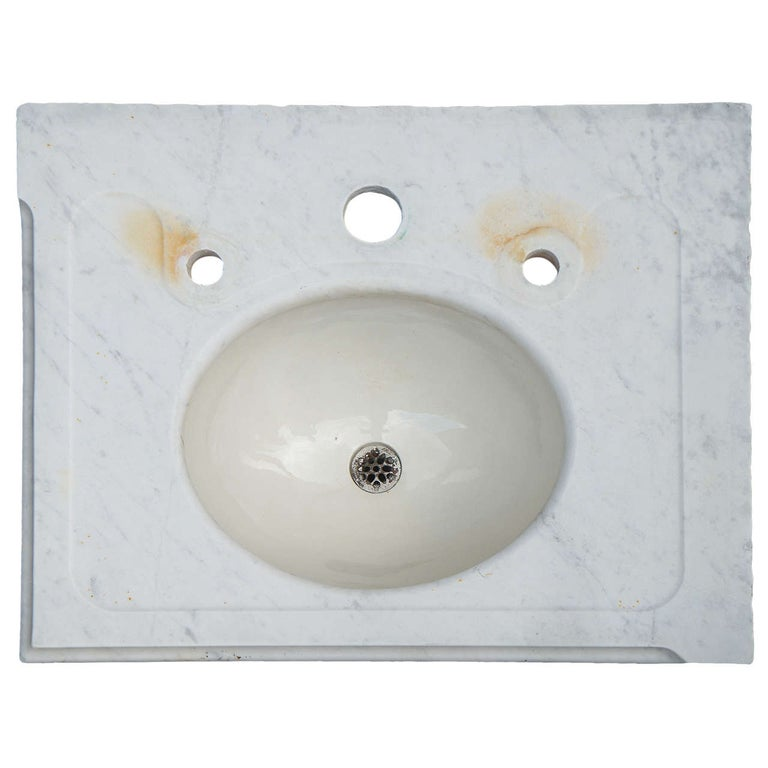 Antique Marble Vanity Sink Top