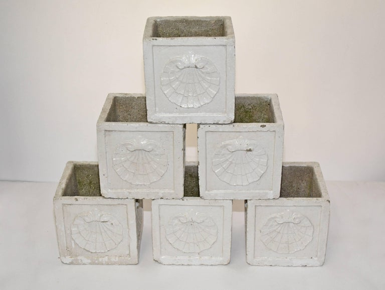 American Classical Vintage White Planters For Sale