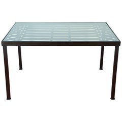Take Picture Top Shows Better Wrought Iron & Glass Indoor/Outdoor Dining Table