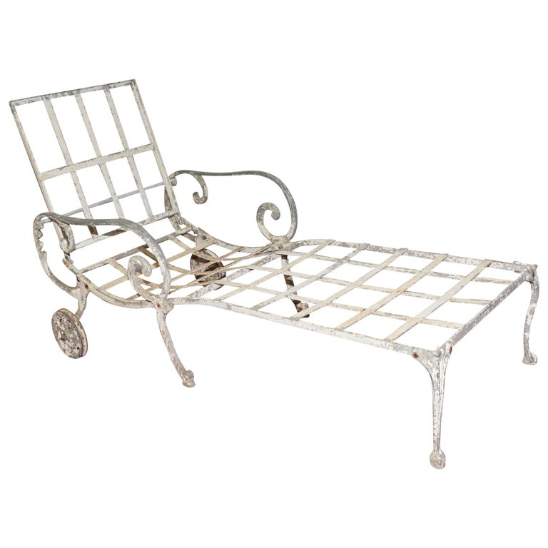 Vintage Salterini Style Outdoor Chaise Longue