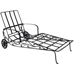 Salterini Wrought Iron Chaise Longue