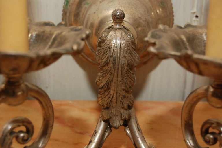 Pair of Silver Gilt Wall Sconces For Sale 2