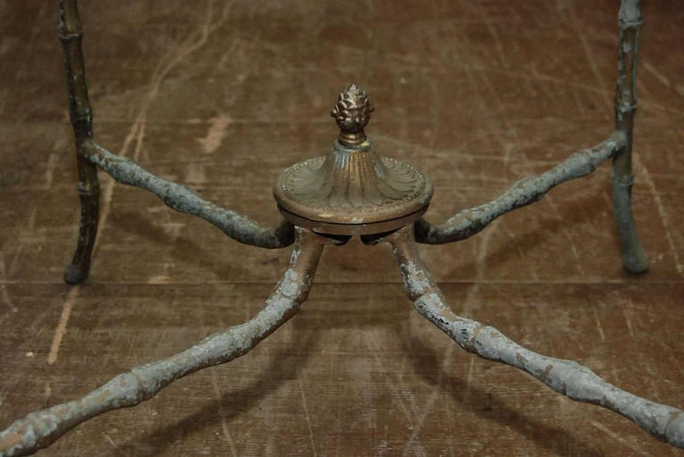 American Pair of Giacometti Style End Tables For Sale