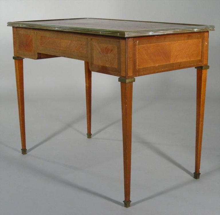 Directoire Style Small Bureau Plat In Distressed Condition For Sale In Great Barrington, MA
