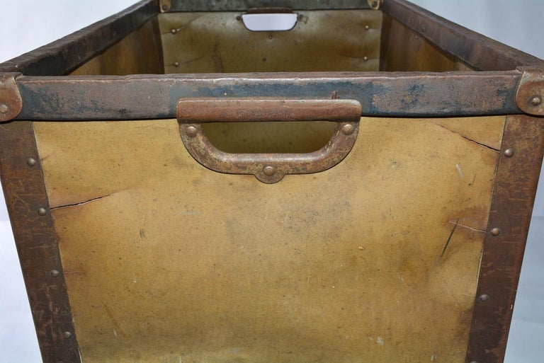 Large Vintage Mail Bin In Fair Condition For Sale In Great Barrington, MA