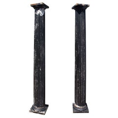 Done Pair of Antique Fluted Columns