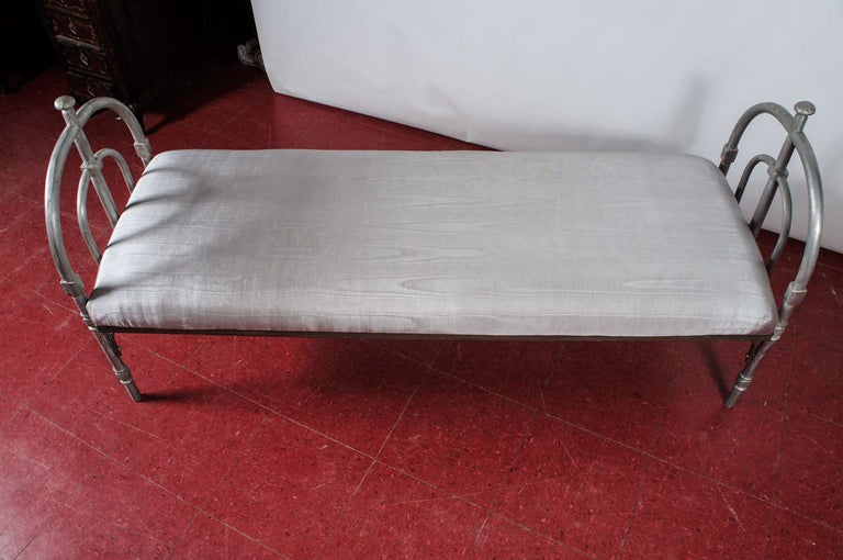 Metal Upholstered Bench For Sale 3