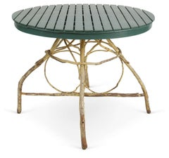 Antique Twig & Open Slated Round Table