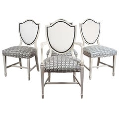 Four Adams Shield-Back Style Chairs