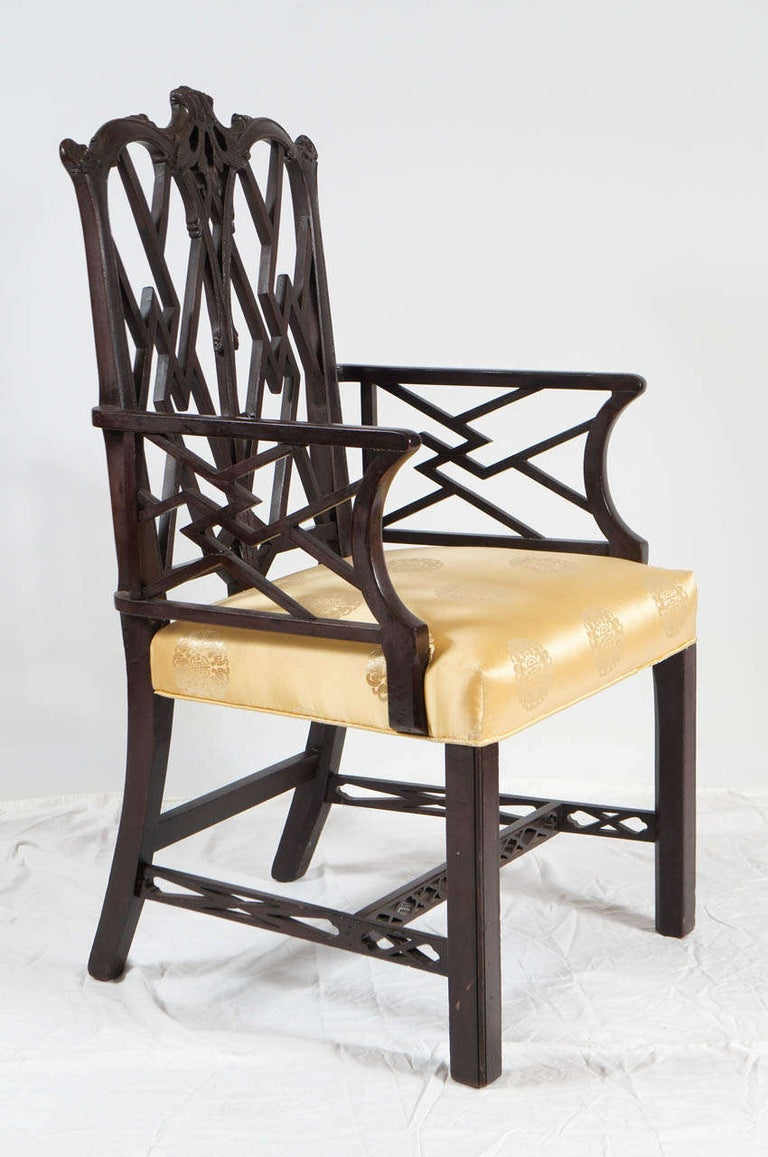 Unknown Chinese Chippendale-Style Armchair For Sale