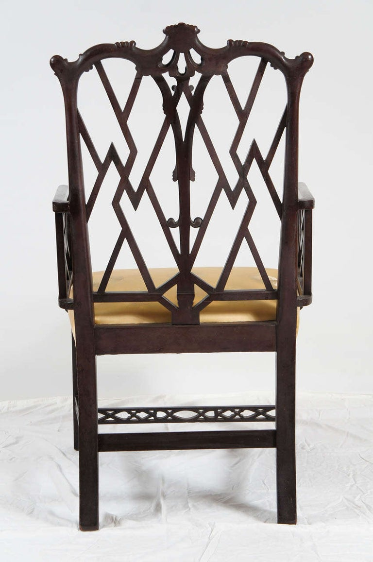 20th Century Chinese Chippendale-Style Armchair For Sale