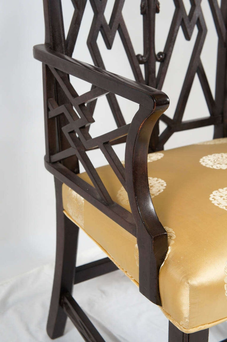 Chinese Chippendale-Style Armchair For Sale 1