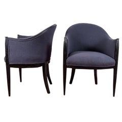 Six Rhulmann or Paul Follot Style Chairs, Priced Per Pair
