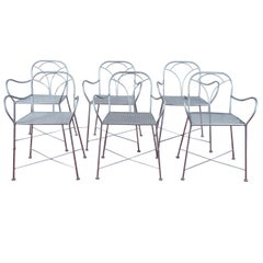 Total Six Art Deco Parisian Garden Chairs