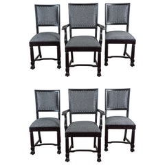 Ebonized Arts & Crafts Style Dining Chairs