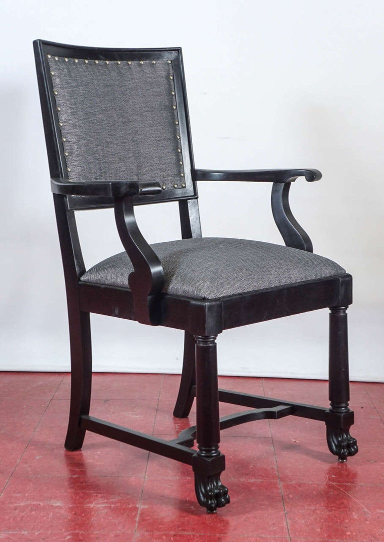 Arts and Crafts Ebonized Arts & Crafts Style Dining Chairs For Sale