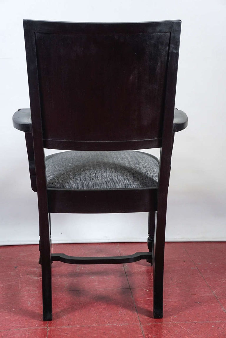 20th Century Ebonized Arts & Crafts Style Dining Chairs For Sale