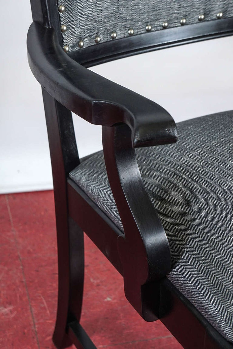 Ebonized Arts & Crafts Style Dining Chairs For Sale 1