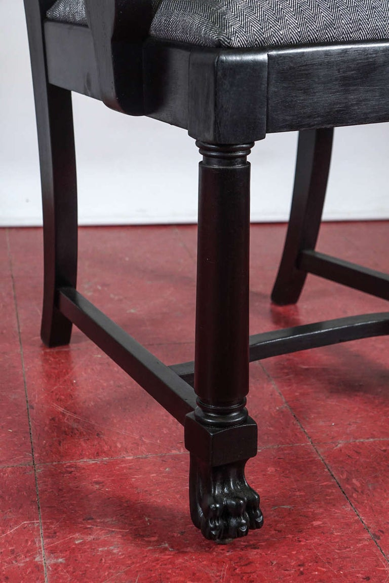 Ebonized Arts & Crafts Style Dining Chairs For Sale 2