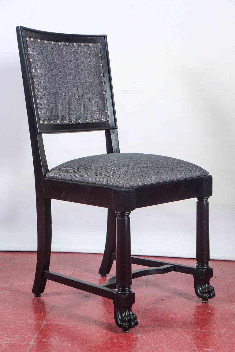 Ebonized Arts & Crafts Style Dining Chairs For Sale 3