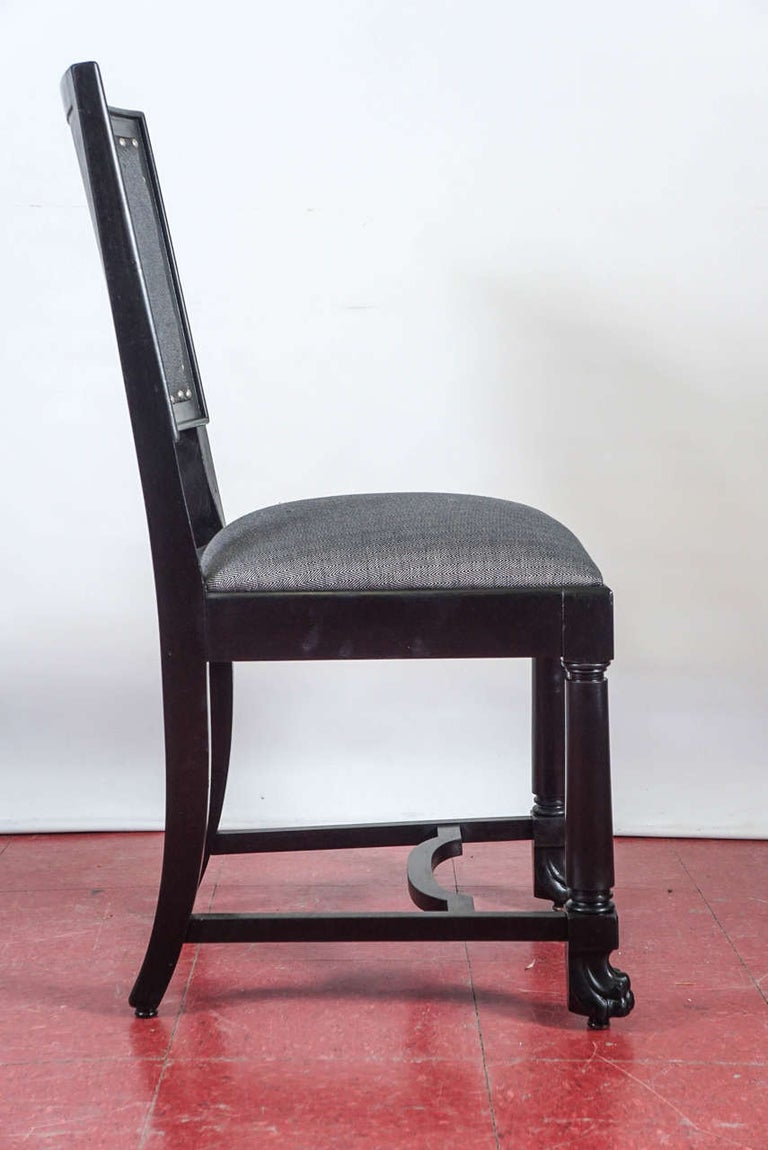 Ebonized Arts & Crafts Style Dining Chairs For Sale 4