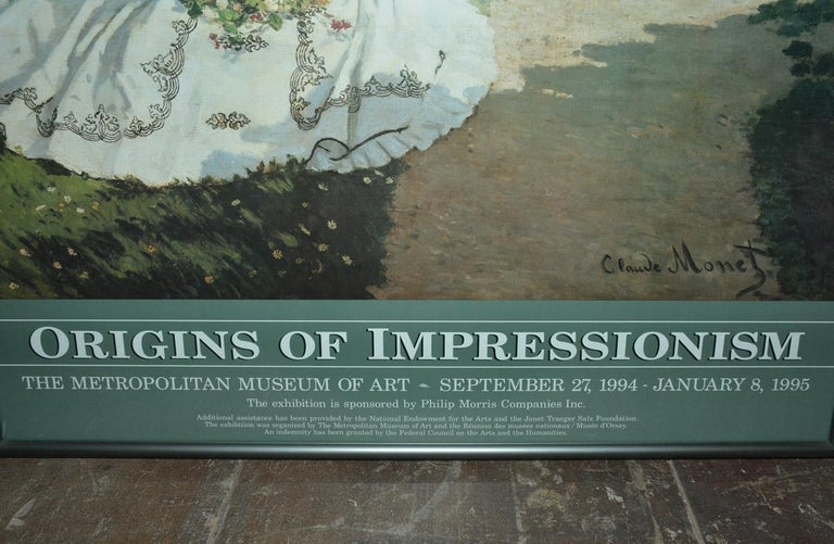 American Framed Poster for Impressionist Show at the Met For Sale