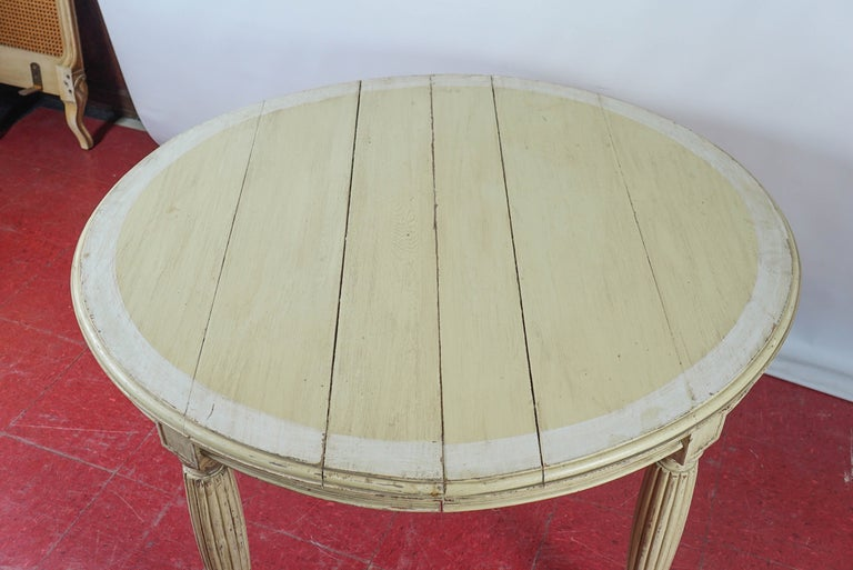 Gustavian Antique Swedish Oval Dining Table For Sale