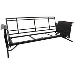 Vintage Black Iron Porch Glider