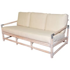 Midcentury Ficks Reed Bamboo Sofa