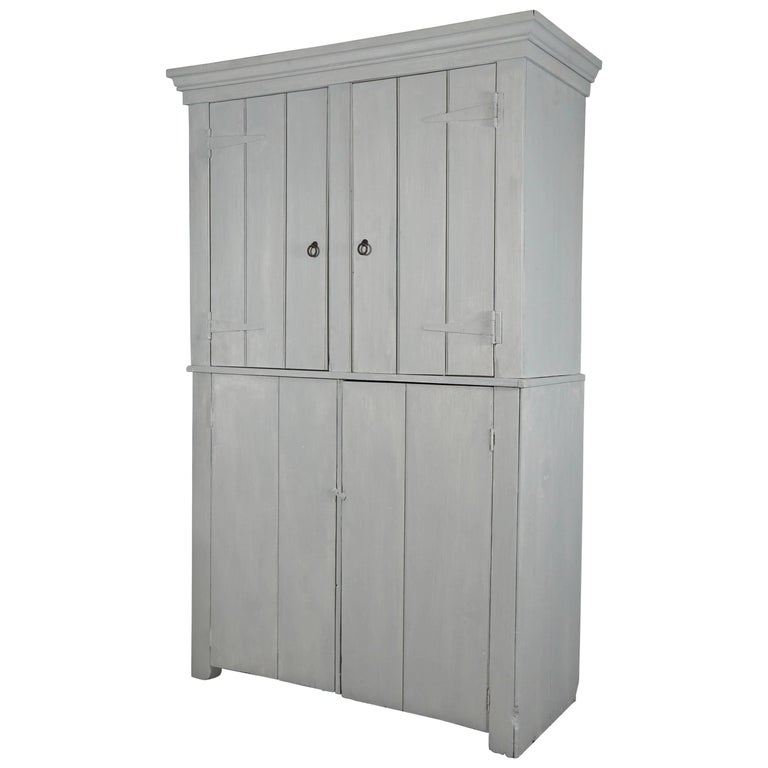 Painted Antique American Country Cupboard