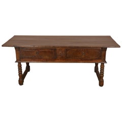 Antique English Country Oak Server